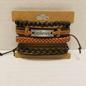 Real leather wrist wrap